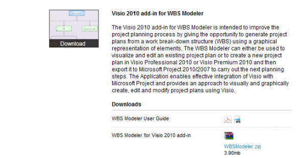 Extract MS project 2010 Data in Visio using Visio WBS