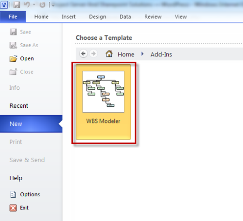 how to create wbs in ms project 2010