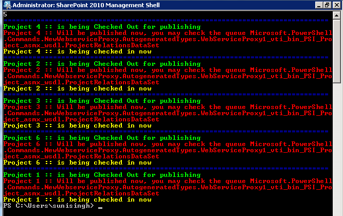 Autopublish all Projects Using Powershell | Project Server And ...